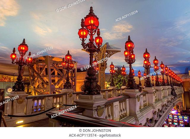 Paris Casino with a Seine Bridhe motif, Las Vegas, Nevada, USA