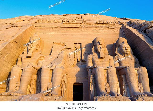 Great Temple of Pharaoh Ramesses II, Egypt, Abu Simbel