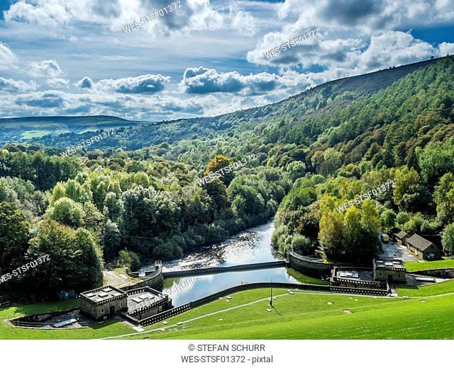 Great Britain, England, Derbyshire, Peak District, Ladybower Reservoir