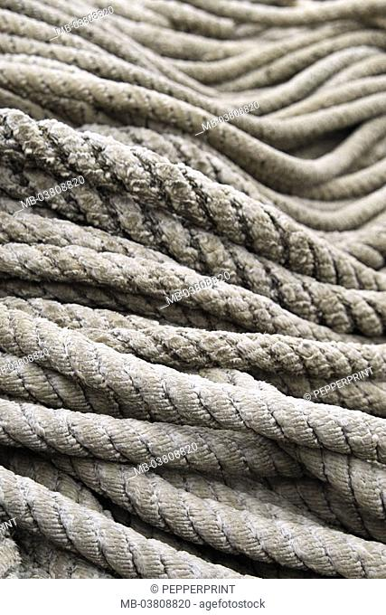 Ropes, many, detail   Strings, dew, rigging, fiber ropes, differently, patterns, texture, pile, shipping, ship accessories, surface, worn out, turned, devoured