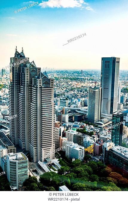 Shinjuku Park Tower as seen from Tokyo Metropolitan Government building, Japan