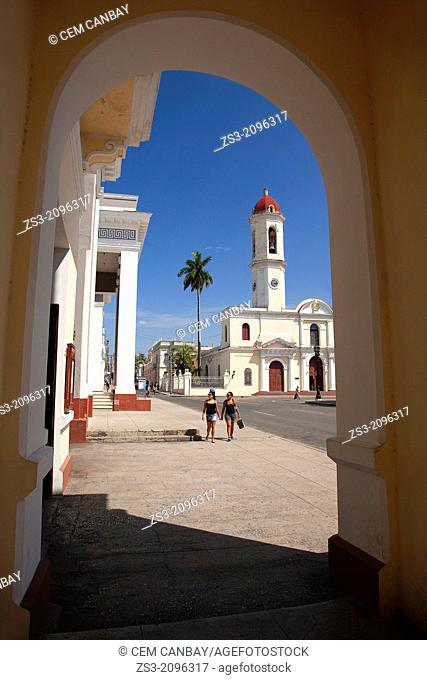 Purísima Concepcion Cathedral in José Martí Park, Cienfuegos, Cuba, West Indies, Central America