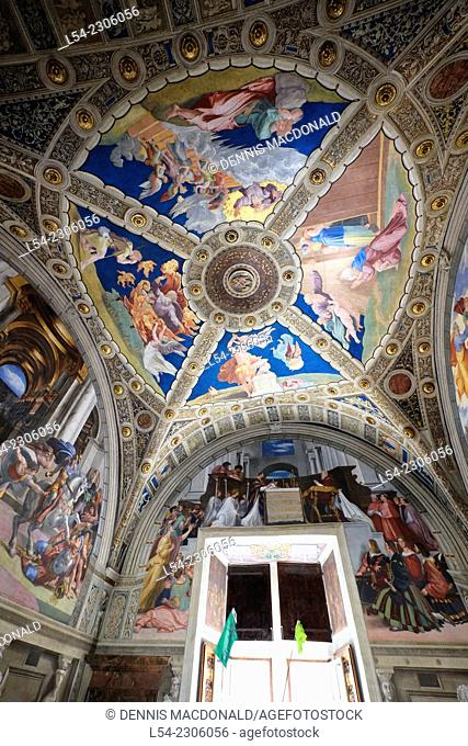 Ceiling Vatican Museum Rome Italy IT EU Europe