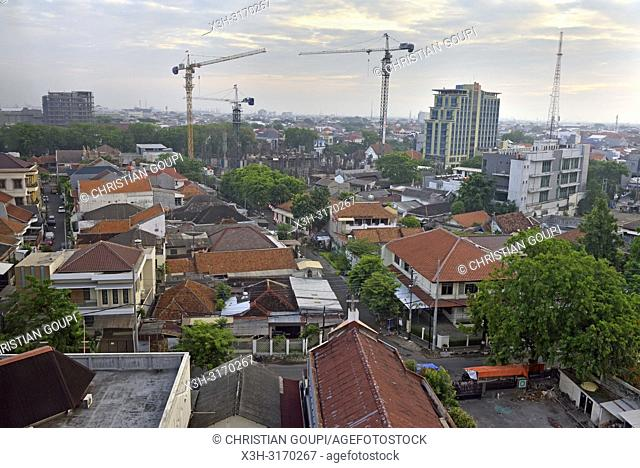 overview of Semarang from the Hotel Santika Premiere, Java island, Indonesia, Southeast Asia