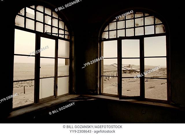 Kolmanskop Ghost Town (Sepia) - Luderitz, Namibia, Africa