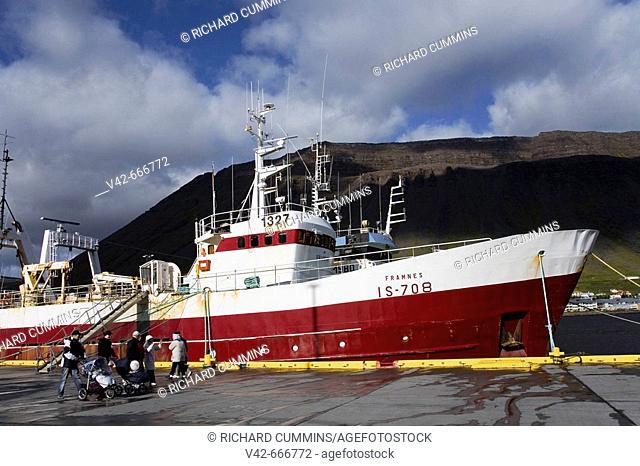 Fishing Vessel, Port of Isafjordur, West Fjords Region, Iceland