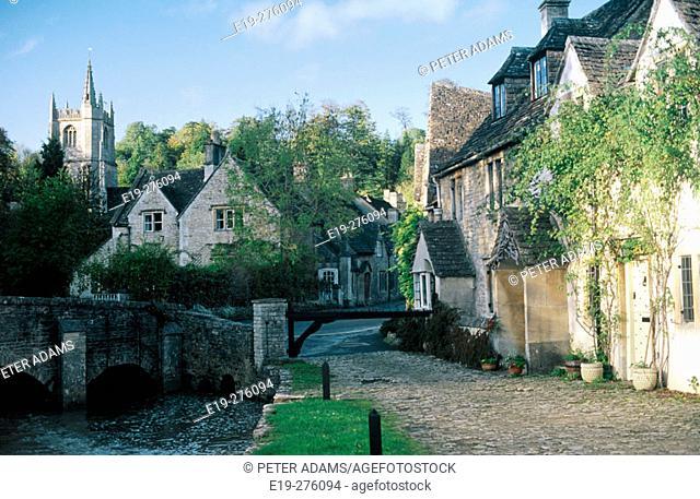 Castle Combe in Wiltshire. UK