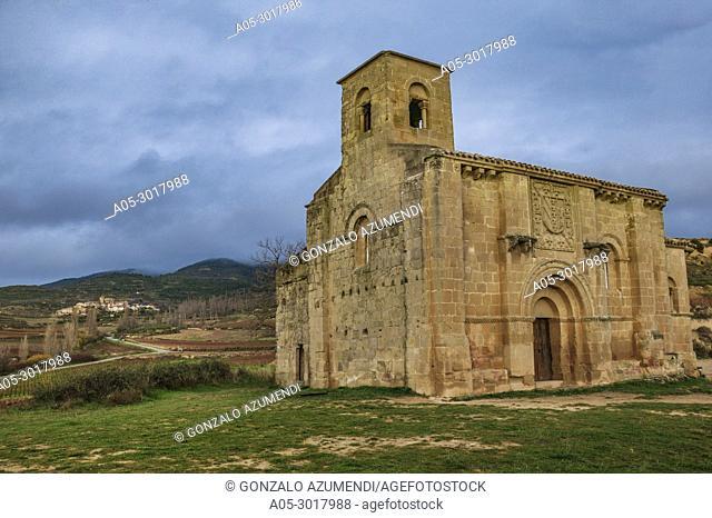 Santa Maria de la Piscina church. Romanesque style. Peciña. San Vicente de la Sonsierra. La Rioja. Spain