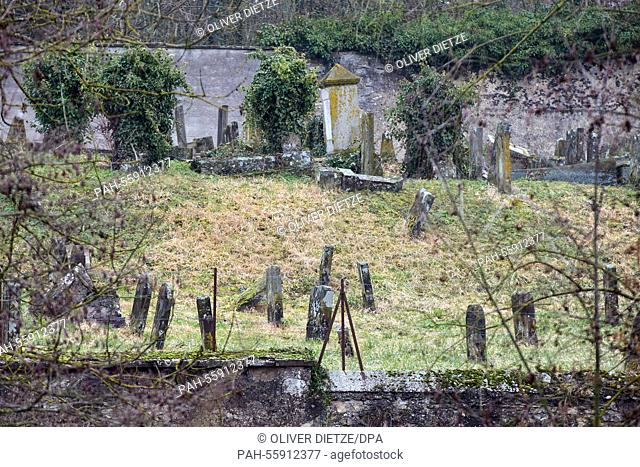 A view of the Jewish cemetery in which hundreds of Jewish graves were defiled earlier in Sarre-Union, France, 16 February 2015. Photo