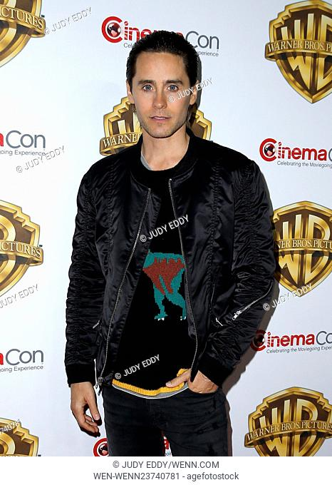 2016 CinemaCon Warner Bros Pictures Red Carpet Arrivals at Caesar's Palace Resort and Casino Featuring: Jared Leto Where: Las Vegas, Nevada