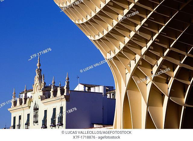 Detail of Metropol Parasol,in Plaza de la Encarnación,Sevilla,Andalucía,Spain