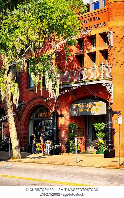 The Savannah College of Art and Design on Bull Street in Savannah, GA