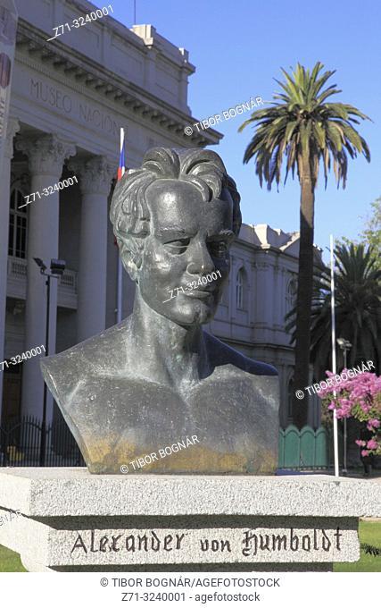 Chile, Santiago, Barrio Matucana, Alexander von Humboldt statue,