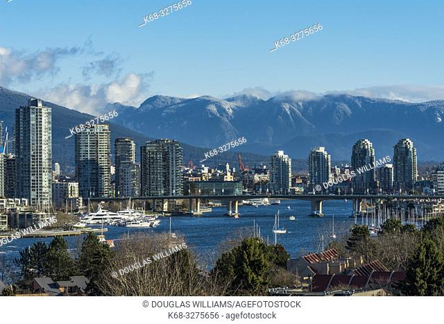 Skyline from the south side of False Creek, Vancouver, BC, Canada