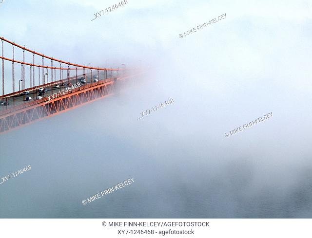 The Golden Gate Bridge in San Francisco in California, United States