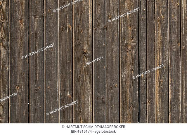 Wall with weathered wooden planks, background