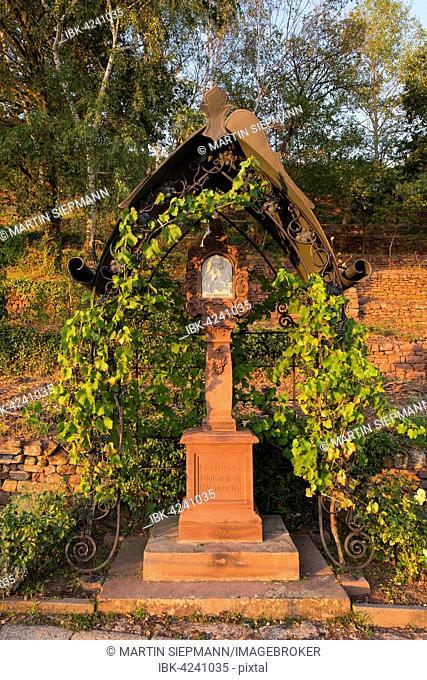 Saint Urbanus, wayside shrine, Klingenberg am Main, Spessart, Mainviereck, Lower Franconia, Franconia, Bavaria, Germany
