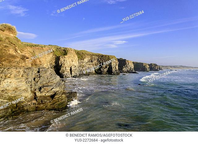 Cornish coast, Gwithian, near Hayle, Cornwall, England, UK