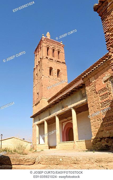 Santo Tomas church in Villanueva del Campo, Tierra de Campos Region, Zamora province, Castilla y Leon, Spain