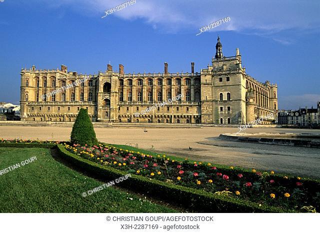 Chateau de Saint-Germain-en-Laye, royal palace in the commune of Saint-Germain-en-Laye, Yvelines department, Ile-de-France region, France, Europe