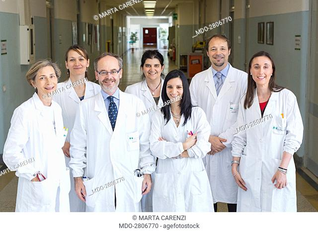Medical staff in white coat. Milan (Italy), 19th June 2014