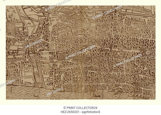 Civitas Londinum, c1560-1620, (1886). Artist: Ralph Agas