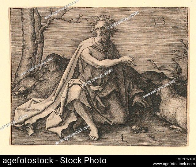 St. John the Baptist in the Desert. Artist: Lucas van Leyden (Netherlandish, Leiden ca. 1494-1533 Leiden); Date: 1513; Medium: Engraving; Classification:...
