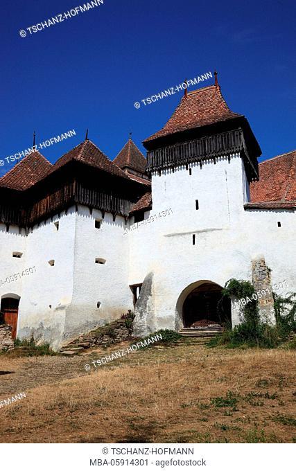 Unesco world cultural heritage church castle of Viscri (In German Weißkirch), Transylvania, Romania