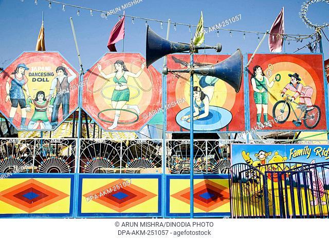 Circus poster, pushkar mela, rajasthan, india, asia