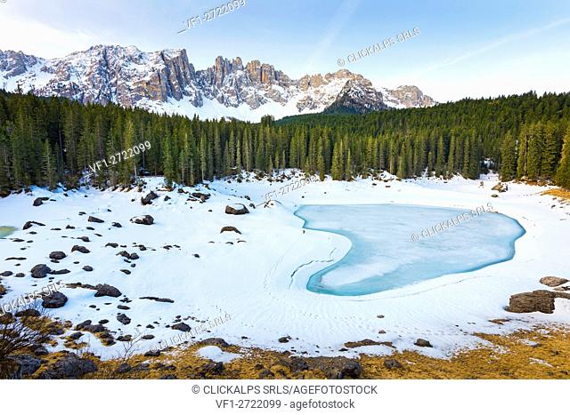 Karersee, region Trentino Alto Adige, Italy
