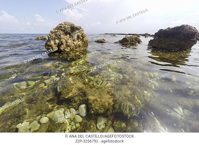 Underwater Las Rotas beach San Antonio Nature reserve in Denia Alicante Spain