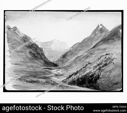 Mountain View at Bormio (from Switzerland 1869 Sketchbook). Artist: John Singer Sargent (American, Florence 1856-1925 London); Date: 1869; Medium: Watercolor
