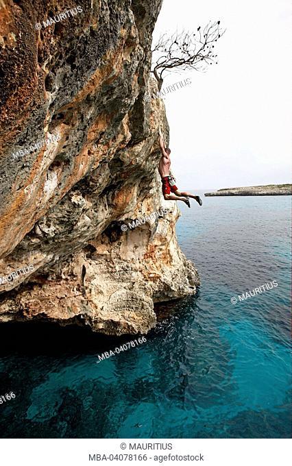 Toni Lamprecht, Spain, Majorca, Deep Water Soloing, sea