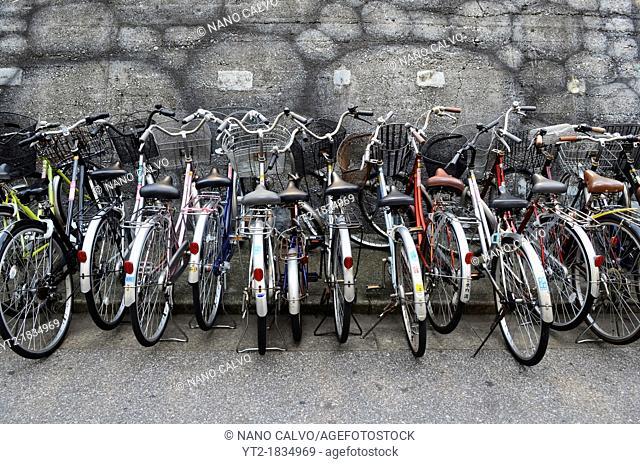 Bike parking, Ryogoku, Tokyo