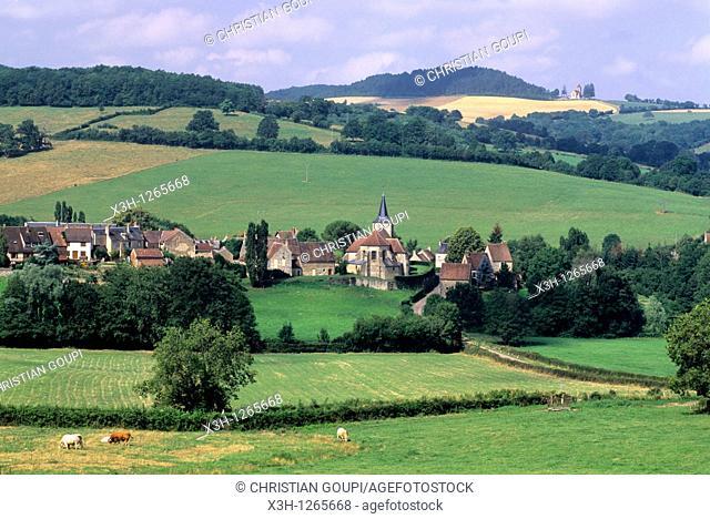 village of Bazoches, Nievre department, region of Burgundy, center of France, Europe