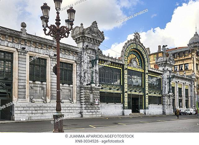 La Concordia, FEVE Train Station, or Santander Station. Modernist style, Bilbao, Biscay, Basque Country, Euskadi, Euskal Herria, Spain, Europe