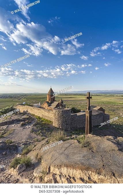 Armenia, Khor Virap, Khor Virap Monastery, 6th century, dawn