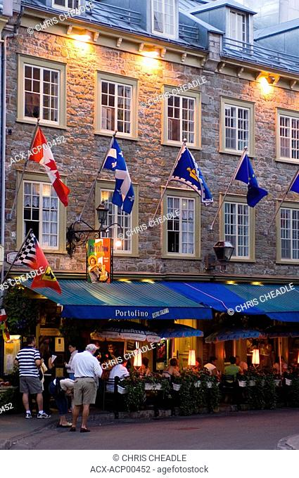 Popular Latin quarter along rue St  Jean, Quebec City, Quebec, Canada