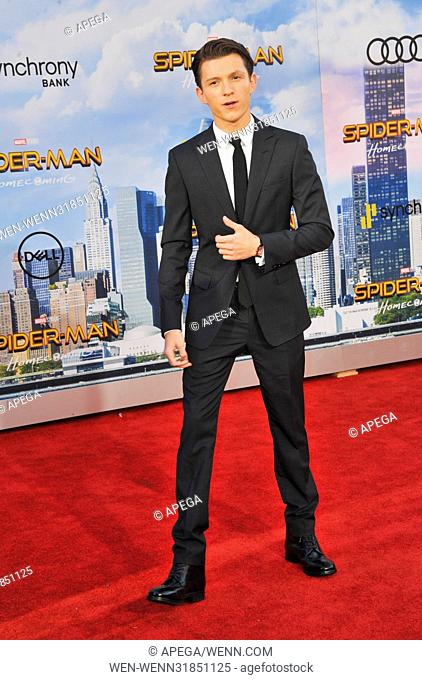 Los Angeles premiere of 'Spider-Man: Homecoming' held at the TCL Chinese Theatre - Arrivals Featuring: Tom Holland Where: Los Angeles, California