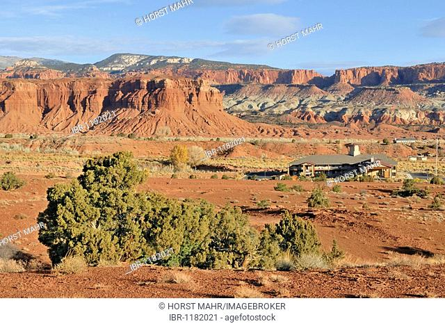 House on the western flank of the Capitol Reef National Park, Utah, USA