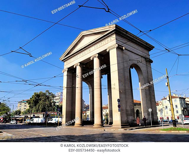 Monument in Milan - city in Lombardy, Italy