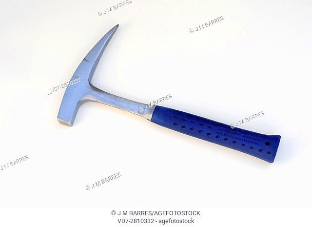 Geologist hammer, rock hammer or rock pick