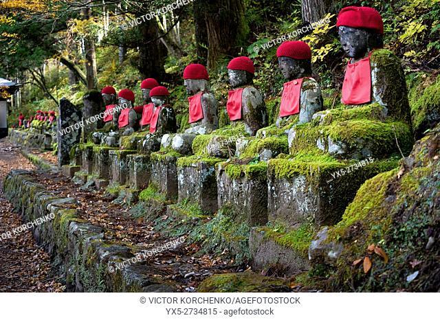 Jizo (Bodhisattva) statues in Kanmangafuchi Abyss in Nikko, Japan