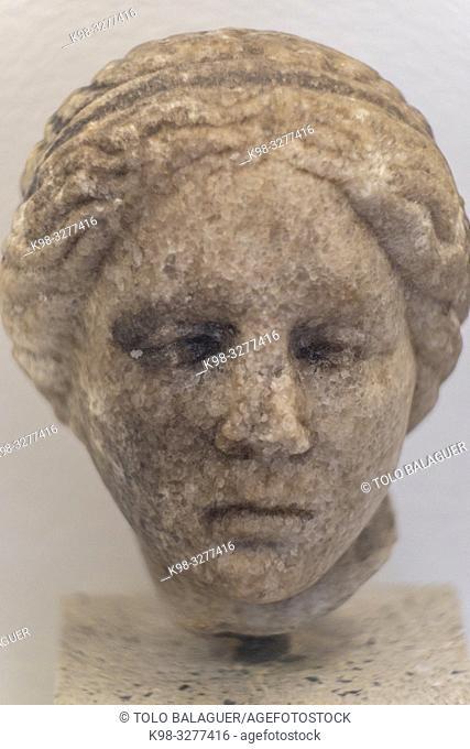 representacion de la diosa Venus, Museo-Centro de Interpretación del parque arqueológico de Segóbriga, Saelices, Cuenca, Castilla-La Mancha, Spain
