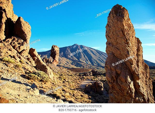 Roques de Garcia, Las Cañadas, El Teide National Park, Tenerife, Canary Island, Spain