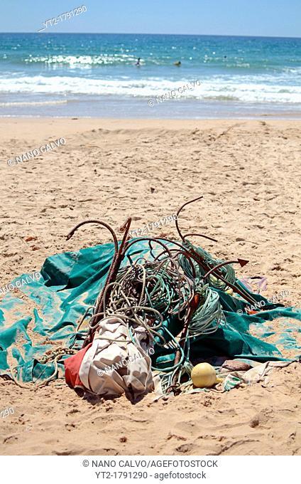 Fishing apparel on the beach, Zahara de los Atunes