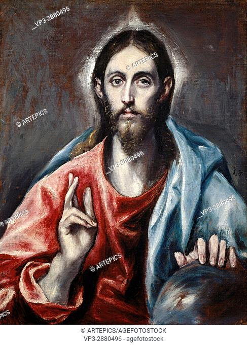 El Greco (Domenikos Theotokopoulos) - Christ Blessing ('The Saviour of the World') - National Galleries of Scotland