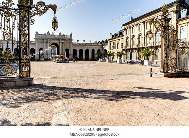 Arc de Triomphe, triumphal arch, Place Stanislas Place de la Carrière, Nancy, Département Meurthe-et-Moselle, France