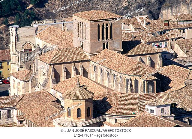 Dome and transept of cathedral, Cuenca. Castilla-La Mancha, Spain
