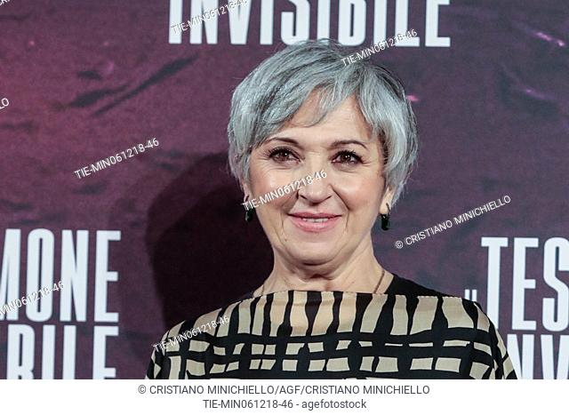 The actress Maria Paiato during the photocall of film Il testimone invisibile, Rome, ITALY-06-12-2018